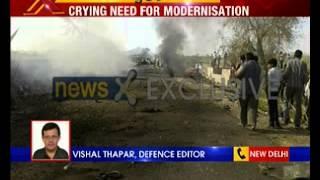 IAF aircraft crashes in Rajasthan's Barmer - NEWSXLIVE