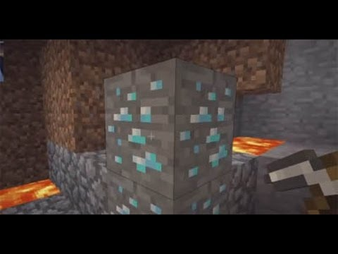 Diamond, Gold and Iron In 3 Minutes On Minecraft Pocket Edition