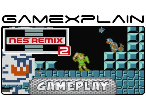 NES Remix 2: Link vs. Hammer Bro & Peach in Mario 3 - Gameplay (Wii U)