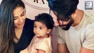Shahid Kapoor's Daughter Misha CUTS Her 1st Birthday Cake | LehrenTV