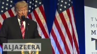 Protests as Trump speaks at Mississippi Civil Rights Museum - ALJAZEERAENGLISH