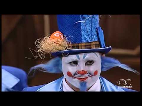Sesión de Preliminares, la agrupación El circo de los payasos actúa hoy en la modalidad de Comparsas.