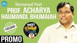 Renowned Poet Prof A Bhumaiah Interview Promo    Akshara Yatra With Mrunalini #9 - IDREAMMOVIES
