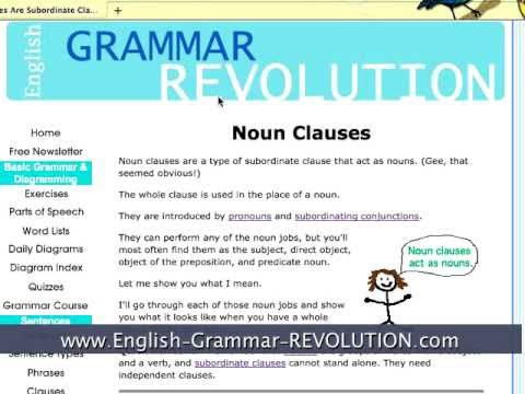 Noun Clauses: A Type of Subordinate Clause