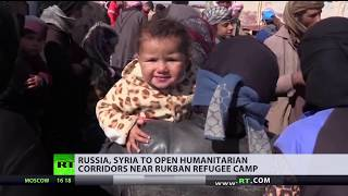 Russia, Syria to open 2 corridors for refugees 'stranded' in US-controlled area - RUSSIATODAY