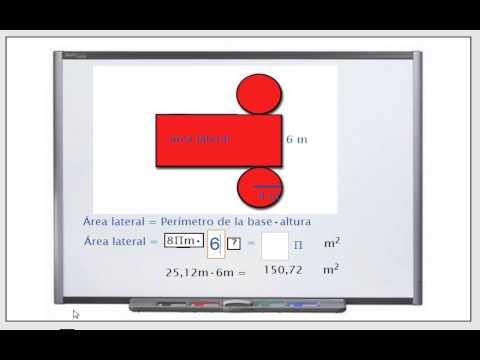 Área lateral y total del cilindro