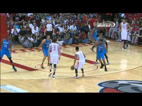 Jeremy Lin - Houston Rockets vs OKC Thunder FULL HIGHLIGHTS HD [10/10/2012]