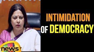 Meenakshi Lekhi Slams Congress On Intimidation Of Democracy | Mango News - MANGONEWS