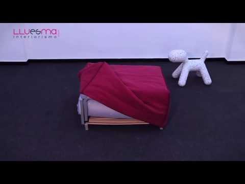 Puff cama plegable con somier convertible en cama de Calidad