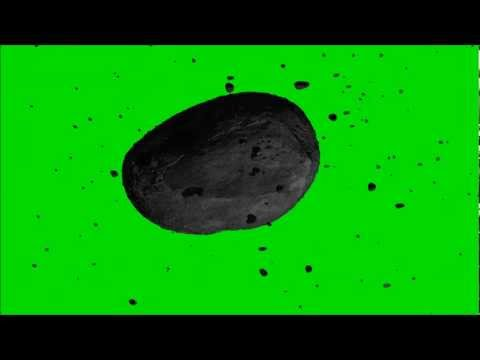 Asteroid Field Green Screen Footage Royalty Free Animation HD 1080P
