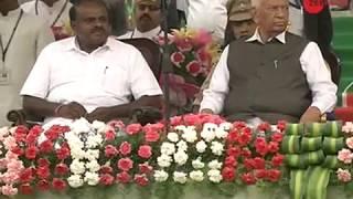 HD Kumaraswamy takes oath as Karnataka CM, opposition leaders present in show of strength - ZEENEWS