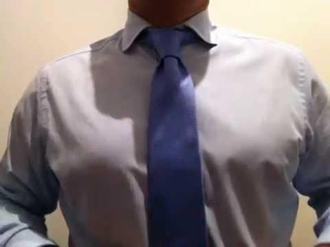 Como hacer un nudo de corbata elegante, cómodo y sencillo