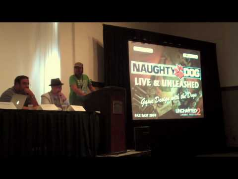 PAX East 2010 panel: Naughty Dog Live & Unleashed - Game Design with the Dogs