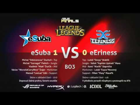 ASUS FINALS 6: eSuba vs. eEriness