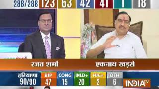 Eknath Khadse speaks with India TV Exclusively. - INDIATV