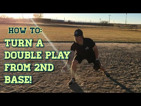 How to Turn a Double Play From Second Base! - Baseball Fielding Drills