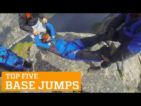 TOP FIVE BASE JUMPS | PEOPLE ARE AWESOME