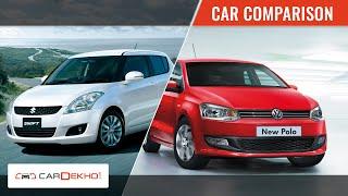 Maruti Swift vs Volkswagen Polo | Video Comparison | CarDekho.com