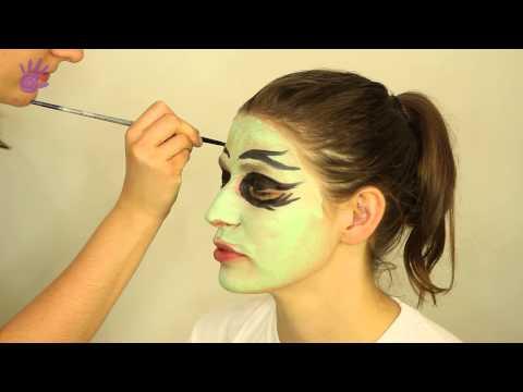Malowanie buziek, malowanie twarzy # 10 - Czarownica