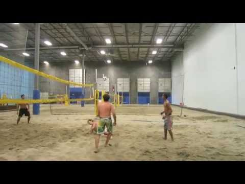 Footvolley at 6 Pack Indoor Beach