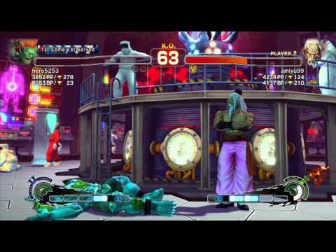 SSF4 AE: hero5253 (Blanka) vs Amiyu (Gen) - Ranked Match (720p HD)