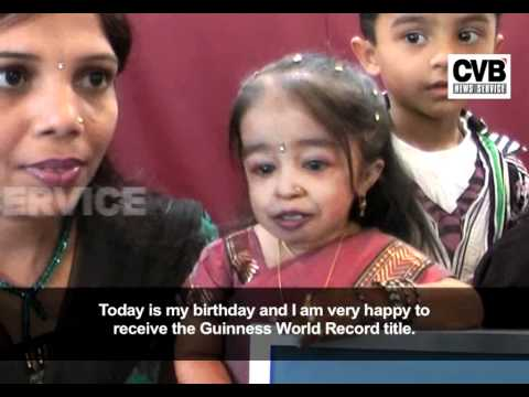 GUINNESS WORLD RECORD RECOGNIZES INDIAN GIRL AS WORLD'S SHORTEST WOMAN