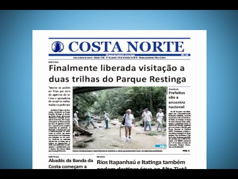JORNAL COSTA NORTE - MANCHETES 1 - 31/01/2015
