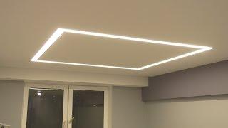 Самодельный квадрат для освещения из алюминиевых профилей и диодной ленты!