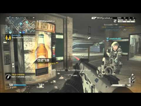 CoD Ghosts - K7 Tearing Enemies Up Gameplay Commentary