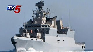 'INS Kamorta' commissioned @ Naval Dockyard | By Defence Minister Jaitley : TV5 News - TV5NEWSCHANNEL
