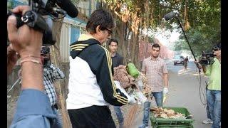 Watch Amitabh Bachchan cleans Mumbai streets - IANSINDIA