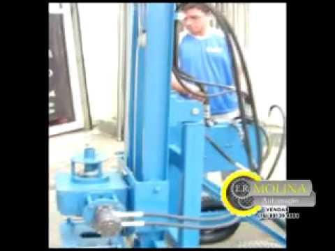 Maquina de furar poço roto pneumática.