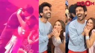 Kartik Aaryan & Sara Ali Khan KISSING? | Adorable moments of the couple from Imtiaz Ali's next film - ZOOMDEKHO