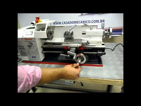 Torno mecanico de bancada 180 X 300mm monofásico 220v Toptech é na Casa do Mecânico