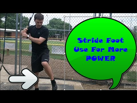 Bat Speed Training: How to Increase Bat Speed With the Stride Foot?