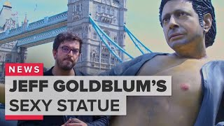 London's giant Jeff Goldblum statue is sexier in person - CNETTV