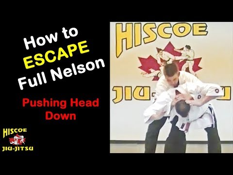 Self Defence Techniques - How to escape a Full Nelson Pushing Head Down - Hiscoe Jiu-Jitsu