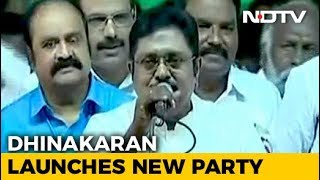 "Dhinakaran Launches Own 'Amma' Party Mocked By AIADMK As ""Mosquito"" - NDTV"