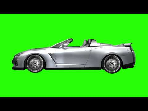 Car Driving - Animated Green Screen