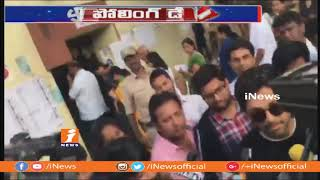 Allu Arjun Casts His Vote  | Telangana Assembly Polling | iNews - INEWS