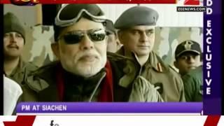 PM Narendra Modi visits jawans in Siachen on Diwali - ZEENEWS