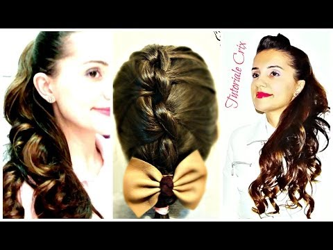 Coafuri Simple de Facut Acasa - French Knotted Braid + Sock Curls Overnight Tutorial