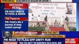 PM Modi flags off 'Run for Unity' on Sardar Patel's birth anniversary - NEWSXLIVE
