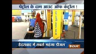 Seven Days of continuous hikes: Petrol crosses Rs Rs 76.24 per litre in Delhi - INDIATV