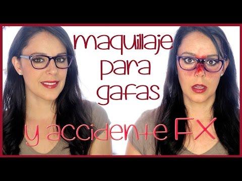 Maquillaje intenso para gafas con final especial FX#78