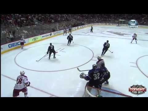 #89 Mikkel Boedker (second) Goal vs. Los Angeles Kings March 12, 2013 NHL