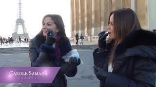 صور وفيديو طريف لكارول سماحة وجومانا بو عيد في باريس