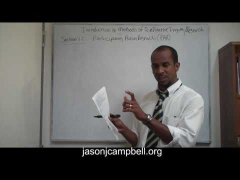 27.  Introduction to Methods of Qualitative Research Participatory Action Research
