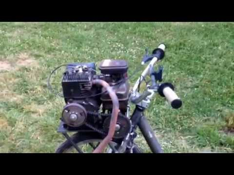 Home made motorized drift trike 3HP part 3