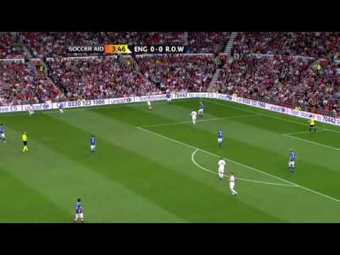 Soccer AID 2010 FULL MATCH england vs rest of the world part 1